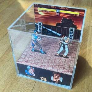 Street Fighter 2 cube diorama