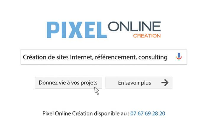 Carte visite Pixel Online