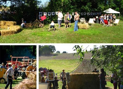 Construction paille – Fête de la batteuse, Busséol