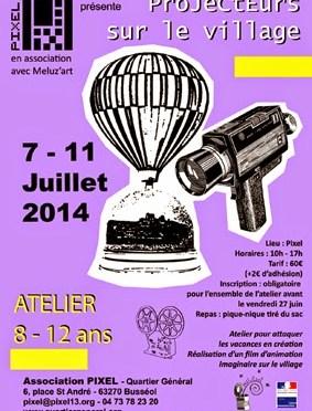 Atelier stop motion : Projecteurs sur le village du 7 au 11 Juillet 2014