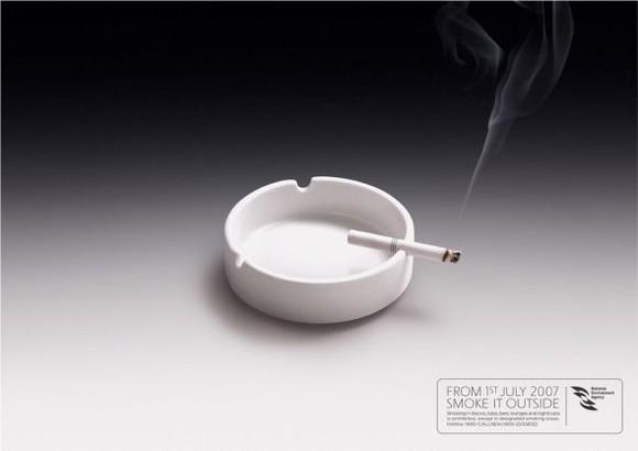 Smoke it outside