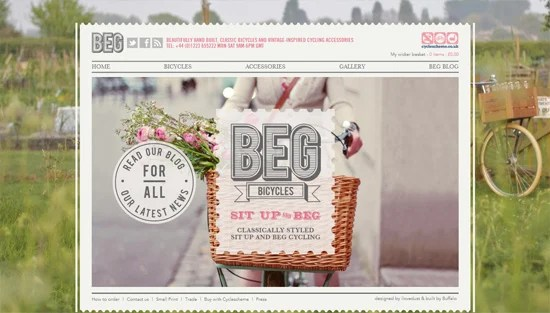 Photo background example: Beg Bicycles