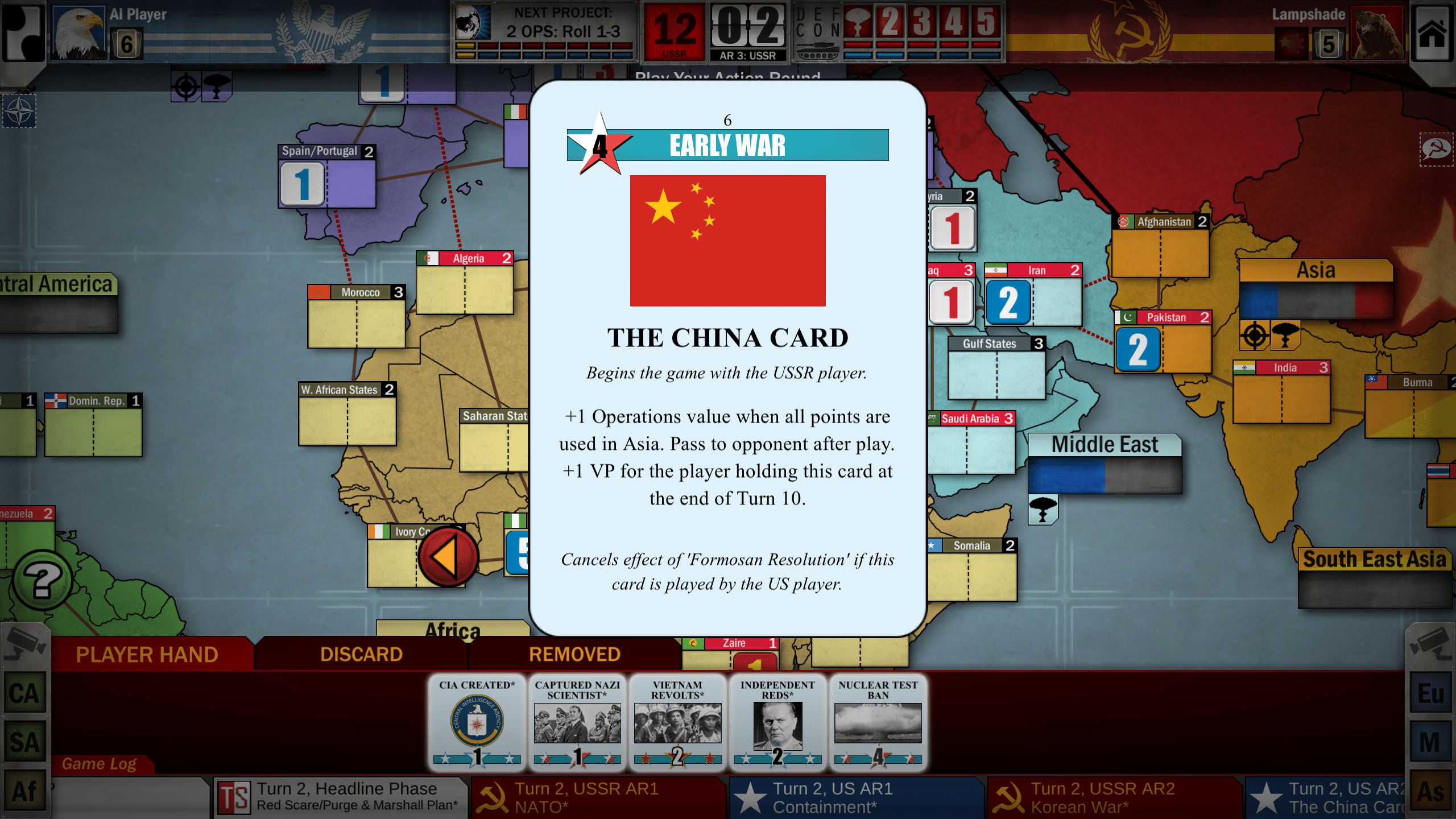 Twilight Struggle - China