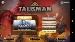 Talisman - menu