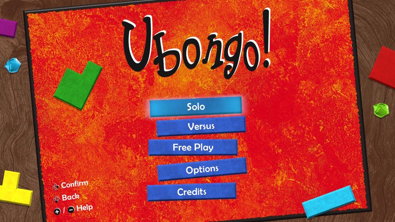 ubongo - menu