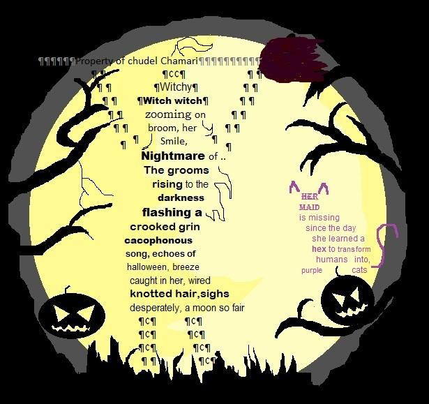halloween shape poem