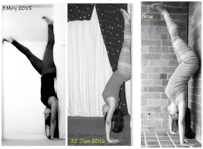yoga transformation - handstand