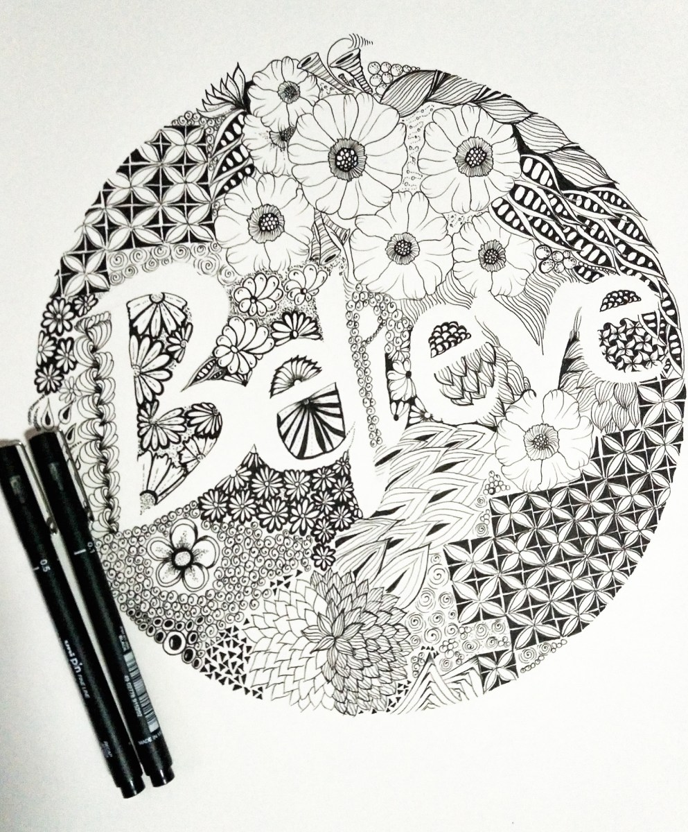 How to make a Zentangle Inspired Art (ZIA)