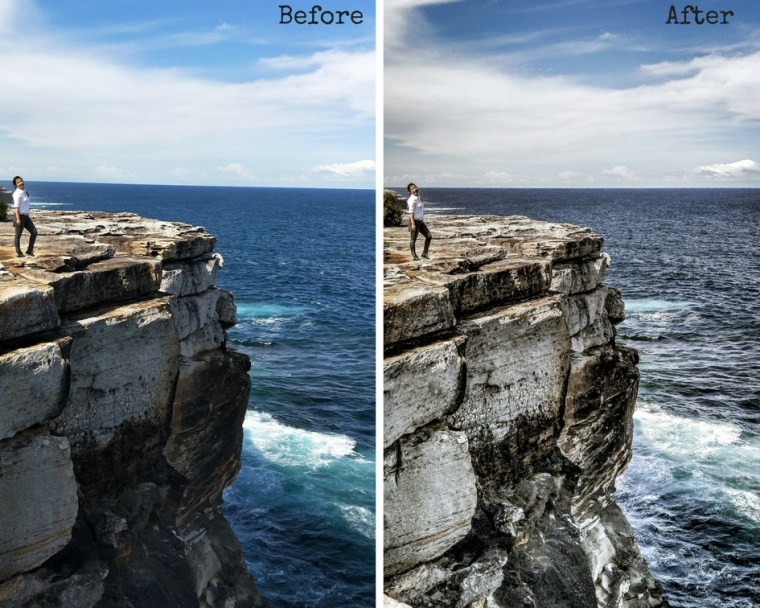 before after photo processing