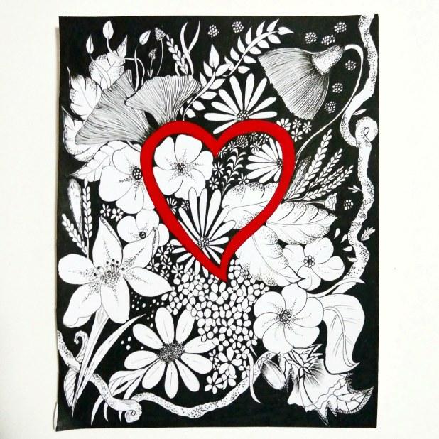 handmade floral illustrations