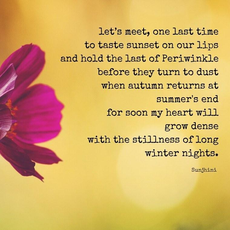 sunset love poems