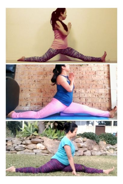 splits progress yoga transformation before and after