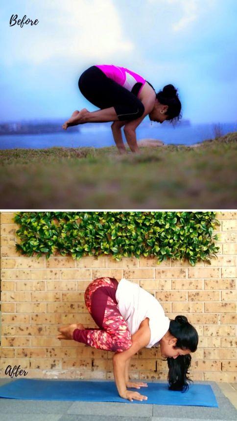 bakasana kakasana yoga transformation before and after