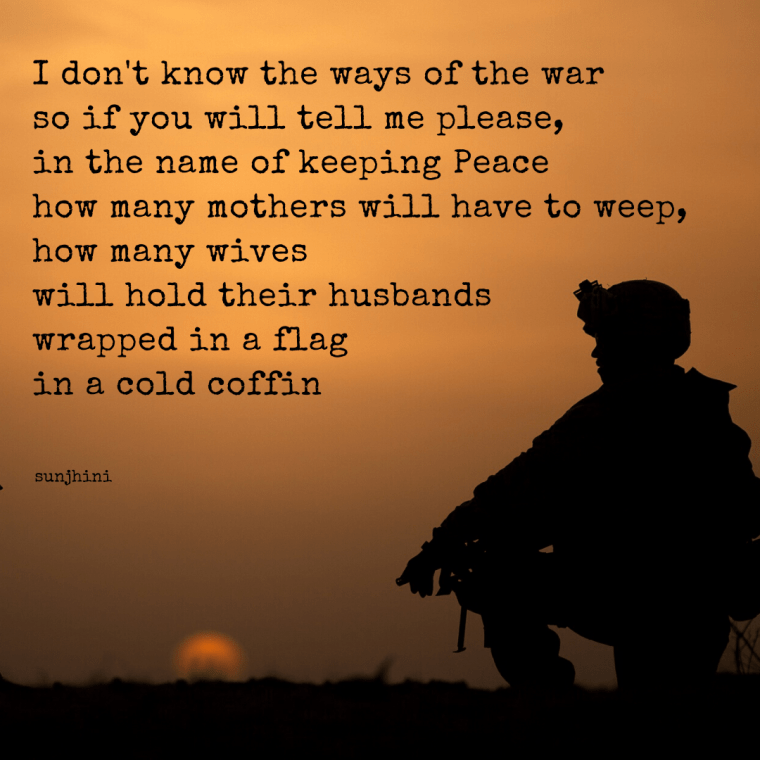 short poems on army