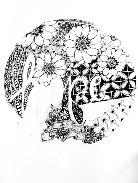 Step by step tutorial on How to draw Zentangle artwork- typography hope