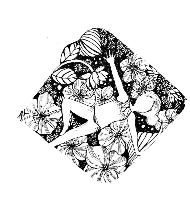 quick drawing ideas - yoga artwork