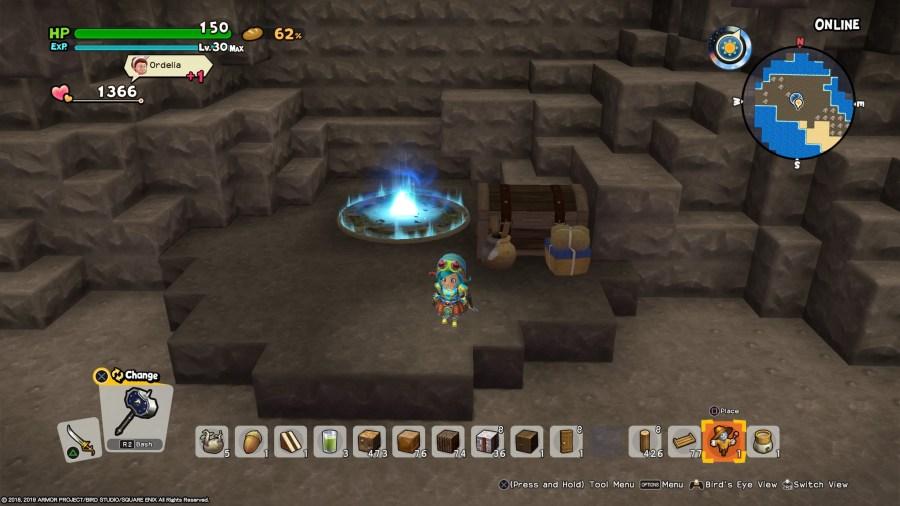modo cooperativo en Dragon Quest Builders 2