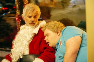 (l-r) Billy Bob Thornton stars as Willie Soke and Brett Kelly as Thurman Merman in BAD SANTA 2, a Broad Green Pictures release. Credit: Jan Thijs / Broad Green Pictures