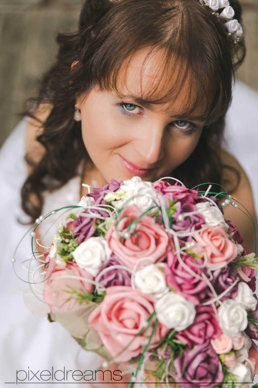 Ein tolles Fotoshooting mit einer tollen Braut.