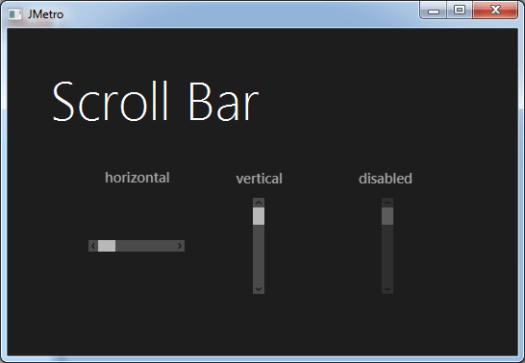 Scroll Bar (Dark Theme)