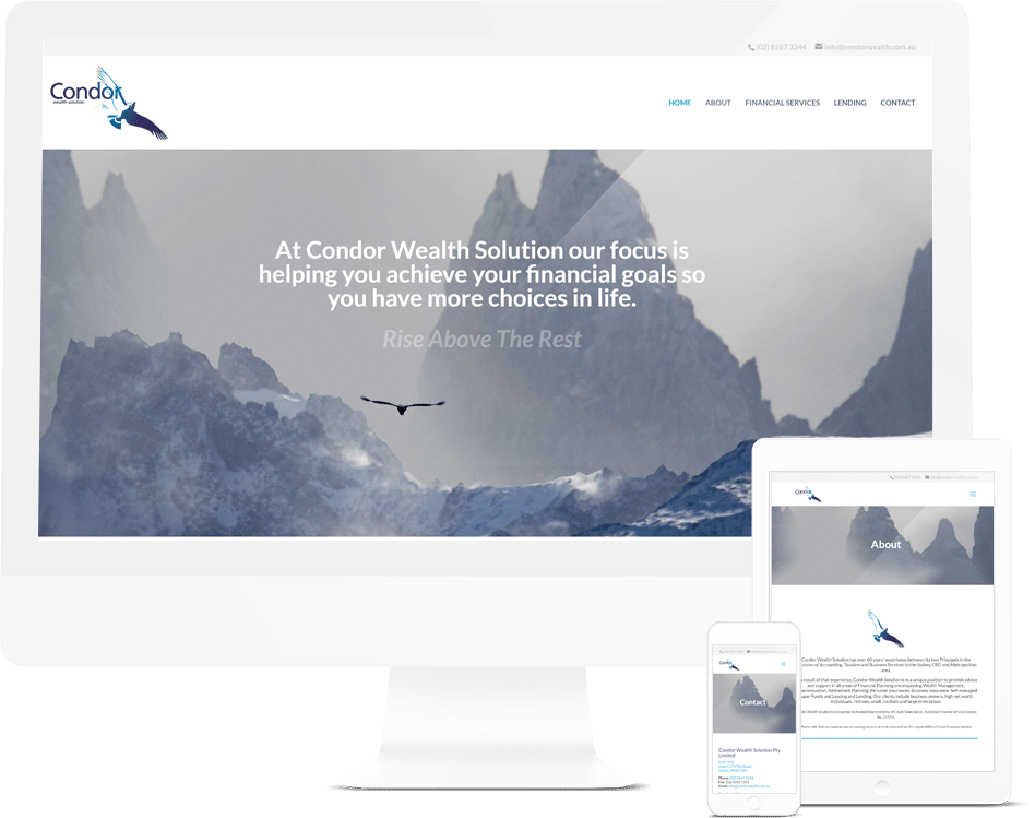 Financial Services Web Design