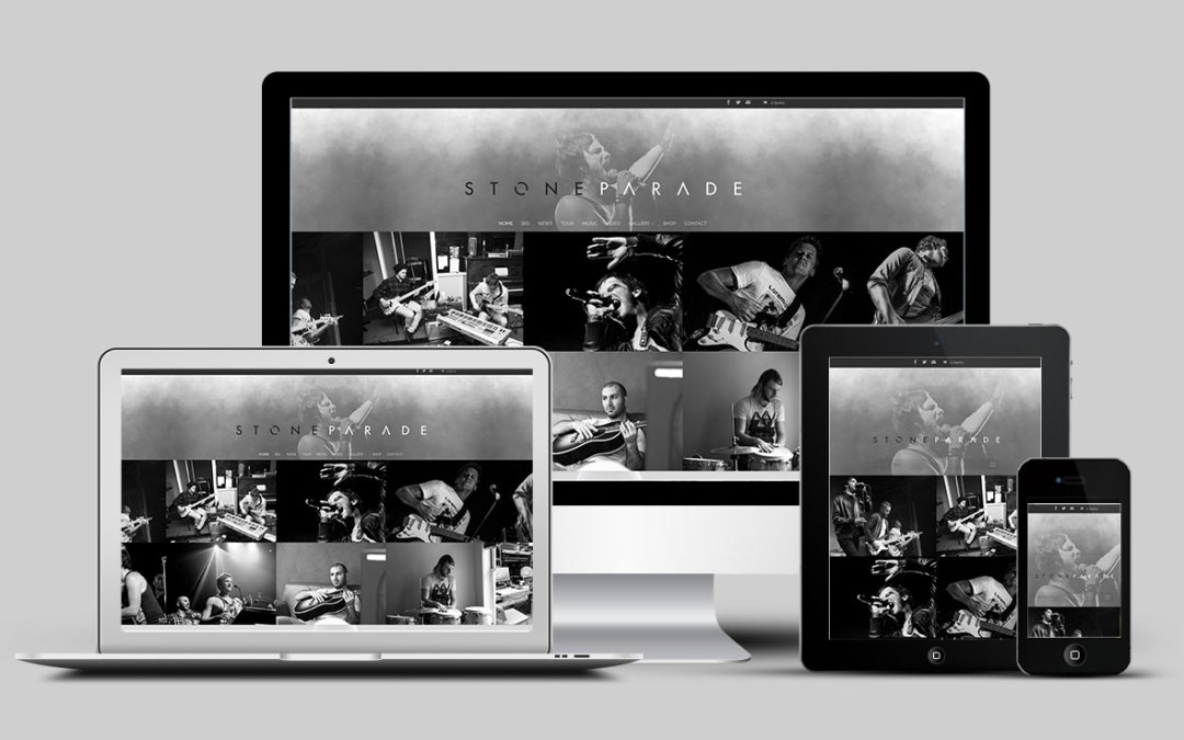 Stone Parade rocks new website