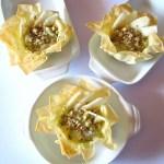 Cestini di Pasta Fillo con Gorgonzola e Pere