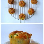 Muffins Salati con Zucchine, Stracchino e Noci di Macadamia