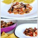 Polpo Spadellato con Pomodorini e Olive e Quadrotti di Cecìna
