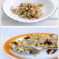 Farro Freddo con Zucchine, Gamberetti, Pomodori Secchi e Mandorle