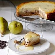 Cheesecake Integrale alle Pere con Gocce di Cioccolato Fondente