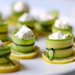 Involtini di Zucchine con Caprino, Menta e Granella di Nocciole