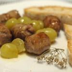 Salsicce all'Uva Bianca al Profumo di Finocchietto