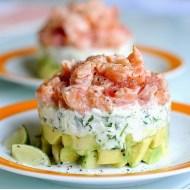 Tartàre di Salmone, Pompelmo e Avocado con Stracchino e Rucola