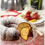 Ciambella Variegata Fragola e Limone