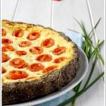 Torta Salata di Grano Saraceno con Ricotta, Pomodorini Pachino ed Erba Cipollina