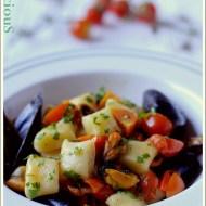 Gnocchetti di Patate (Senza Uova) con Cozze e Pomodorini