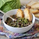 Zuppa di Roveja con Verza e Funghi Pioppini