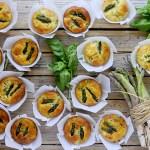 Muffins Salati con Asparagi, Robiola e Basilico