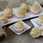 Bignè Salati di Grano Saraceno e Parmigiano Reggiano con Spuma di Mortadella