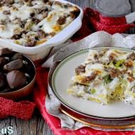 Lasagne al Caponet con Verza, Salsiccia, Castagne e Raschera
