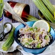 Bulgur al Limone con Calamari, Zucchine e Olive Greche