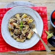 Rigatoni con Melanzane, Pomodori e Alici Fresche