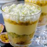 L'avvento dei trifle per l'MTC: Trifle al Frutto della Passione con Crema al Cioccolato Bianco e Chantilly al Lime