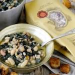 Zuppa di Farro, Borlotti e Cannellini con Cavolo Nero e Crostini all'Aglio