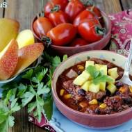 Il Mio Caribbean Pork Chili per il Club del 27: Chili Caraibico di Maiale con Mais, Fagioli Neri e Mango