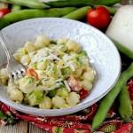 Chicche di Patate con Fave, Pomodorini e Crema di Pecorino