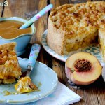 Caramel Crumble Peach Pie