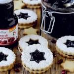 Linzer Cookies con Confettura di Melagrana