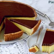 Crostata con Crema al Semolino e Ganache al Cioccolato